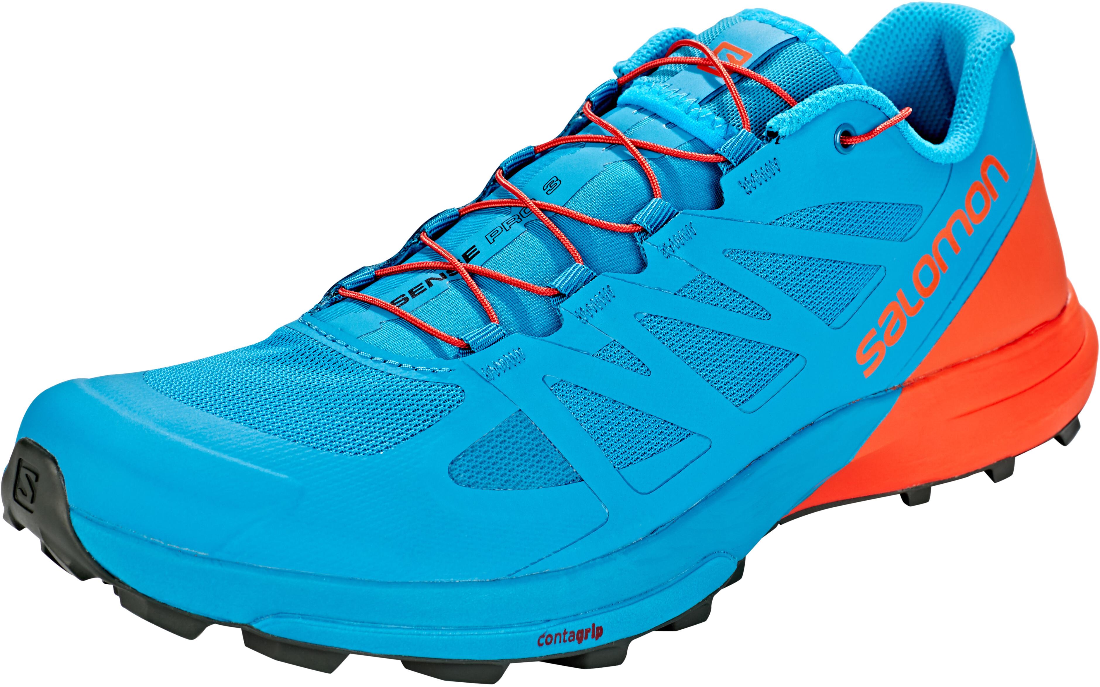 competitive price 53f01 a1d55 Salomon Sense Pro 3 Shoes Men fjord blue/cherry tomato/urban chic